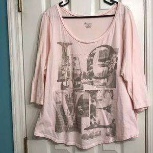 "Pink Lane Bryant ""Love"" Shirt"